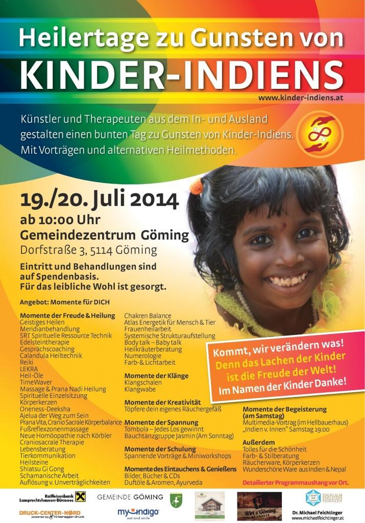 Heilertage zugunsten Kinder Indiens 19./20.7. Göming/Oberndorf