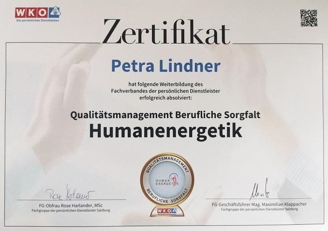 Petra Lindner Energiearbeit AJELUA Humanenergetik Qualitätssicherung Qualität QualitätssiegelSalzburg Flachgau